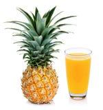 Pineapple juice and pineapple Stock Photo