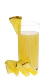 Pineapple Juice With Slices Stock Image