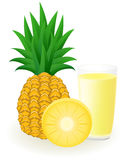 Pineapple juice vector illustration Stock Photos
