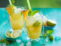 Pineapple lemonade Stock Images