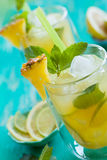 Pineapple lemonade Royalty Free Stock Photography