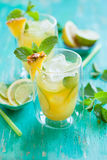 Pineapple lemonade Stock Image