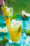 Pineapple lemonade Royalty Free Stock Photo