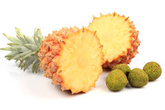 Pineapple and lychee Stock Images