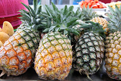 Pineapple in the market. Royalty Free Stock Photos