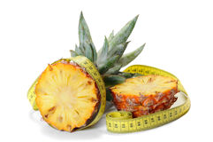 Pineapple Measured The Meter Royalty Free Stock Images