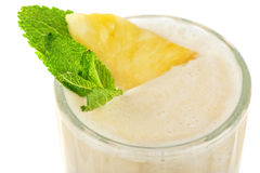Pineapple milk cocktail Royalty Free Stock Images