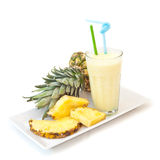 Pineapple milkshake Stock Photography