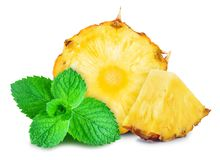 Pineapple and mint Royalty Free Stock Images