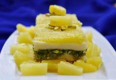 Pineapple mithai Stock Photography