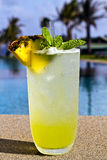 Pineapple mojito Stock Photo