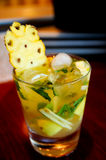 Pineapple mojito close up Stock Image