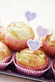 Pineapple muffins stock image