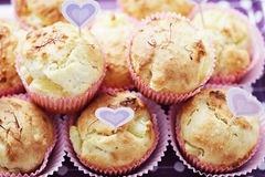 Pineapple muffins stock photo