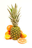 Pineapple and orange Stock Photography