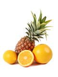 Pineapple and orange Royalty Free Stock Photos
