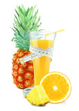 Pineapple-orange juice Royalty Free Stock Images