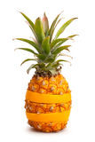 Pineapple and orange Stock Photos