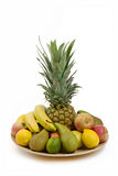 Pineapple and other fruit Royalty Free Stock Photos