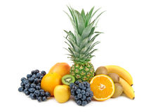 Pineapple and other fruits Royalty Free Stock Image