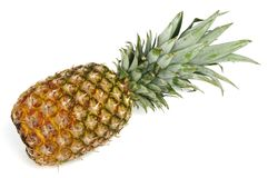 Pineapple over white. Raw pineapple isolated over white Stock Photos
