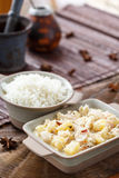 Pineapple pachadi with rice Royalty Free Stock Images