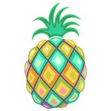 Pineapple Pastel Colors  Stock Photo