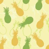 Pineapple pattern background decorative line silhouette ripe jui Stock Photos