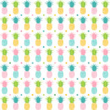 Pineapple Pattern Background Royalty Free Stock Images