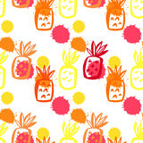 Pineapple pattern52 Stock Photos