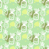 Pineapple pattern54 Royalty Free Stock Photo