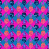 Pineapple pattern in pink and blue royalty free stock images