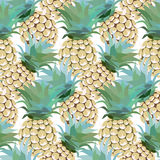 Pineapple pattern Royalty Free Stock Photos