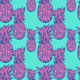 Pineapple pattern - vector Stock Photography