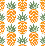Pineapple. Pattern. Vector illustration (EPS 10&#x29 Stock Images