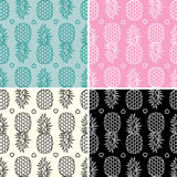 Pineapple patterns, vector  Stock Photos