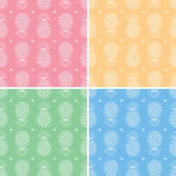 Pineapple patterns, vector  Royalty Free Stock Images