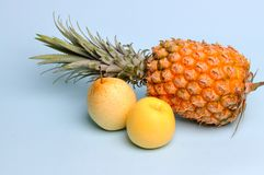 Pineapple pear aplle Stock Image