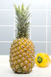 Pineapple And Pepper. ON Closeup Stock Images