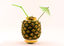 Pineapple, pineapple juice Royalty Free Stock Photos