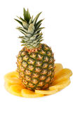 Pineapple and Pineapple Slices Royalty Free Stock Photo