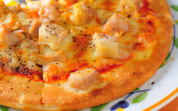 Pineapple pizza Royalty Free Stock Images