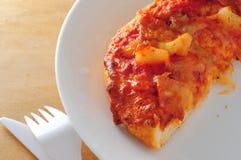 Pineapple pizza slice Royalty Free Stock Photos