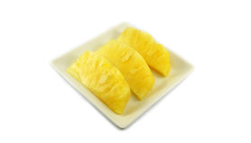 Pineapple on plate Stock Image
