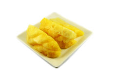 Pineapple on plate Royalty Free Stock Image