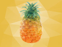 Pineapple. In a polygonal mosaic Stock Image