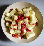 Pineapple and pomegranate salad Royalty Free Stock Photography