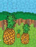 Pineapple puzzle pattern Royalty Free Stock Photo