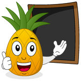 Pineapple & Recipe or Menu Blackboard Royalty Free Stock Image