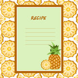 Pineapple recipes on a seamless texture Stock Photo